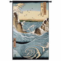 Stormy Sea at the Naruto Rapids Wall Tapestry