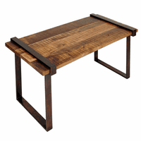 Strap Iron & Solid Mango Wood Coffee Table