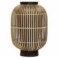 Striped Bamboo Uplight Table Lamp