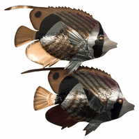 Striped Butterfly Fish Pair Wall Art