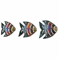 Striped Copper Dripped Fish - Set of 3