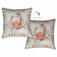 Striped Crab Pillow