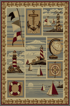 Striped Lighthouse Rug Collection