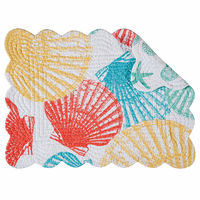 Summer Beach Scalloped Placemats - Set of 6