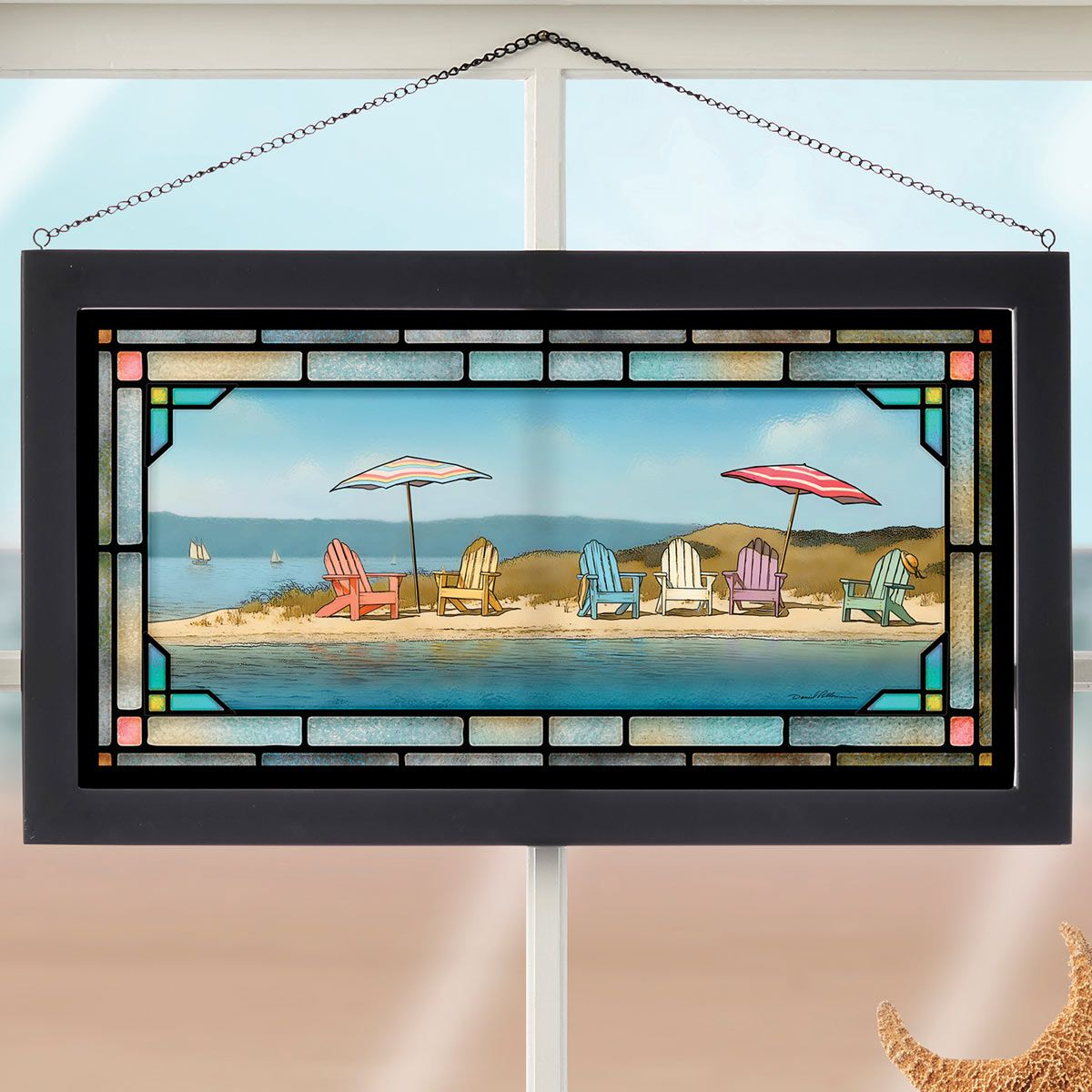 Beach Wall Art: Summer Colors Stained Glass Art
