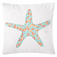 Summer Starfish Beaded Pillow