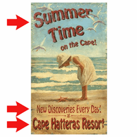 Summer Time Personalized Sign