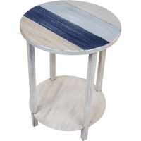 Summerton End Table with Nautical Stripes