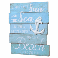Sun, Sea, Beach Wood Wall Art - CLEARANCE