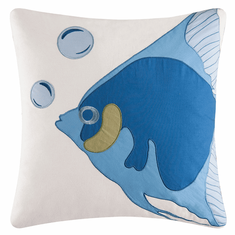 Sun & Sea Bubble Fish Pillow