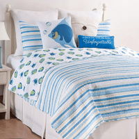 Sun & Sea Striped Quilt Bedding Collection