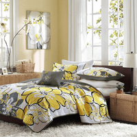 Sunny Flowers Coverlet Set - Full/Queen