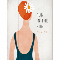 Sunny Swimmer Personalized Sign