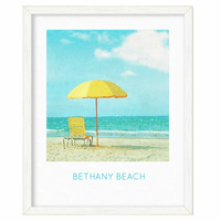 Sunny Umbrella Personalized Framed Poster