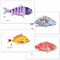 Sunrise Fish Placemats - Set of 4