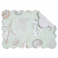 Sunset Beach Scalloped Placemats - Set of 6