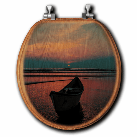 Sunset Oasis Toilet Seat - Round
