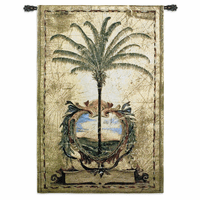 Sunset Palm Wall Tapestry