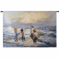 Surf Dancers Wall Tapestry