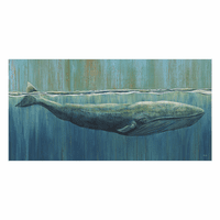 Surfacing Whale Canvas Art - 48 x 24 - OVERSTOCK