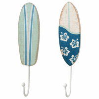 Surfboards Wood Wall Hooks - Set of 2