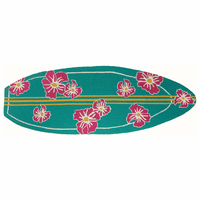 Surfs Up Hibiscus Accent Rug