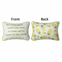 Sweet Pineapple Reversible Pillow