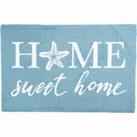 Sweet Starfish Home Hooked Rug