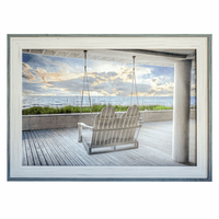 Swinging at Sea Framed Print