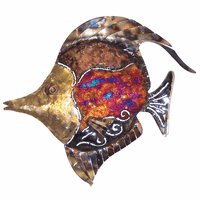 Swirled Copper Dripped Bannerfish - Large