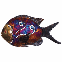 Swirled Copper Dripped Fish