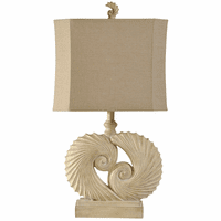 Swirled Nautilus Shells Accent Lamp