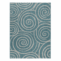 Swirling Seas Aqua Indoor/Outdoor Rug Collection