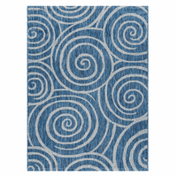 Swirling Seas Indigo Indoor/Outdoor Rug Collection
