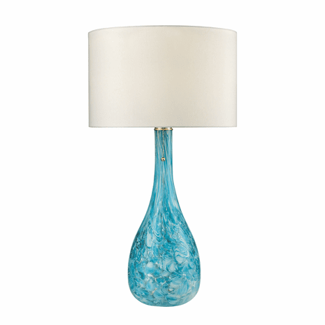 Swirling Tides Blown Glass Table Lamp