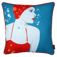 Synchronized Swimmer Indoor/Outdoor Pillow