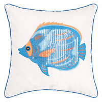 Tahitian Fish Sequined Pillow
