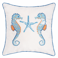 Tahitian Seahorse Sequined Pillow