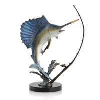 Taking the Bait Sailfish Sculpture