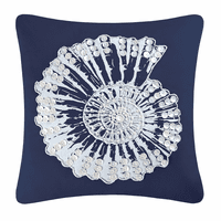 Tales of the Sea Nautilus Shell Pillow with Buttons