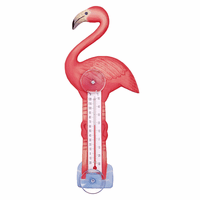 Tall Flamingo Window Thermometer