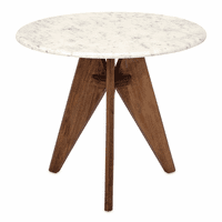 Tall Marble and Mango Wood Table