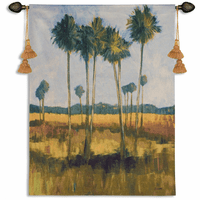 Tall Palms II Wall Tapestry