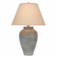 Tan Tapered Table Lamp