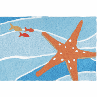 Tangerine Starfish Indoor/Outdoor Rug