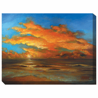 Tasman Sunset Indoor/Outdoor Canvas Art