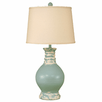 Tattered Atlantic Gray Round Pot Table Lamp