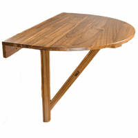 Teak Drop-Leaf Balcony Table