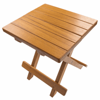 Teak Grooved Top Fold-Away Table Stool