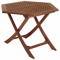 Teak Hexagonal Side Table